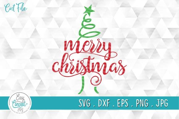 Merry Christmas Svg, Christmas Tree Svg Graphic Crafts By EasyConceptSvg