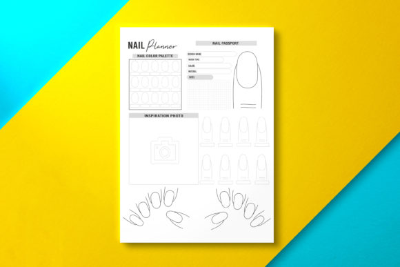 Nail Planner, PDF Template Graphic KDP Interiors By Nickkey Nick