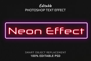 Print on Demand: Neon Photoshop Editable Text Effect Graphic Layer Styles By IYIKON