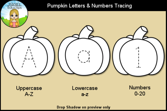 Print on Demand: Pumpkin Letters & Numbers Tracing Graphic Teaching Materials By Aisne Educlips
