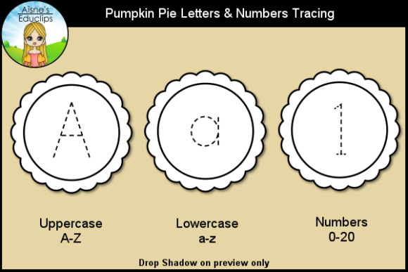 Print on Demand: Pumpkin Pie Letters & Numbers Tracing Graphic Teaching Materials By Aisne Educlips
