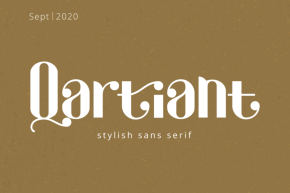 Print on Demand: Qartiant Display Font By attypestudio