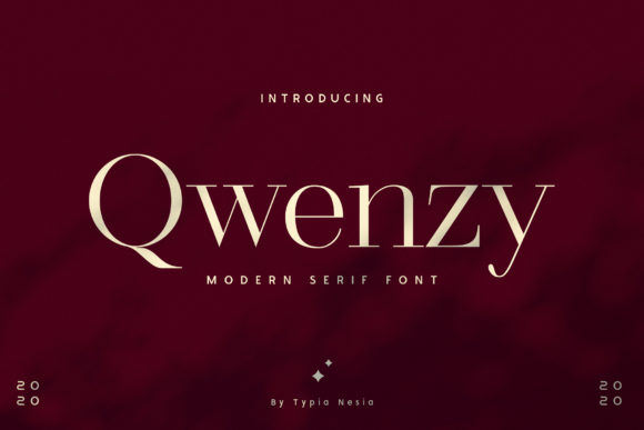 Print on Demand: Qwenzy Serif Font By Typia Nesia