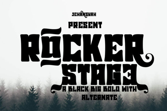Print on Demand: Rocker Stage Blackletter Font By jehansyah251