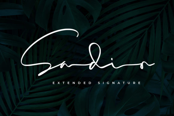 Print on Demand: Sadio Script & Handwritten Font By Abodaniel