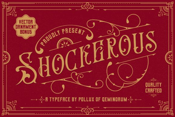 Print on Demand: Shockerous Blackletter Font By Pollux of Geminorum