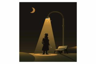Print on Demand: Sillhouette of Jack the Ripper on Night Graphic Illustrations By aryo.hadi