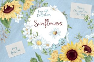 Sunflowers Graphic Illustrations By nicjulia