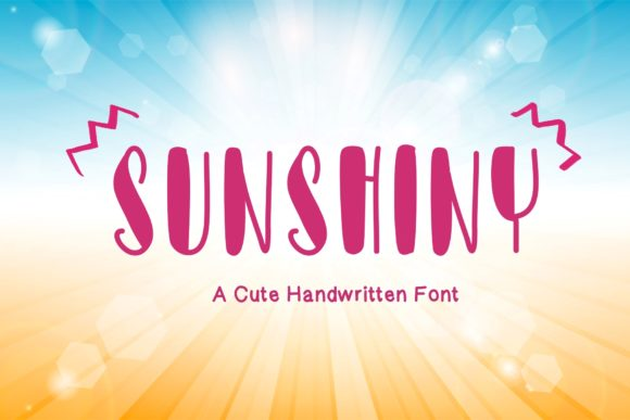 Print on Demand: Sunshiny Display Font By KateType