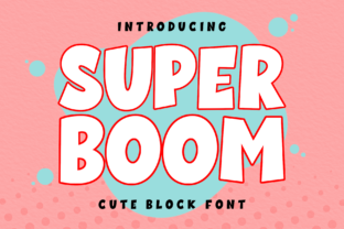 Print on Demand: Super Boom Display Font By AV Type