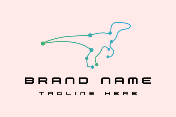 T Rex One Line Logo Template Graphic Logos By byemalkan
