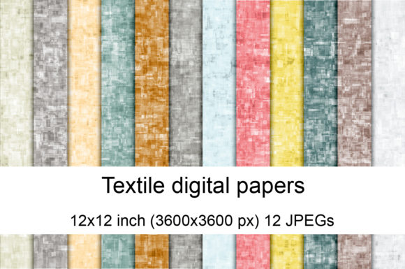 Print on Demand: Textile Digital Papers Graphic Textures By Andrea Kostelic
