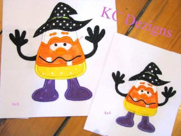 Wacky Halloween Corn 01 Halloween Embroidery Design By karen50