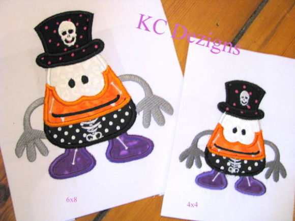 Wacky Halloween Corn 04 Halloween Embroidery Design By karen50