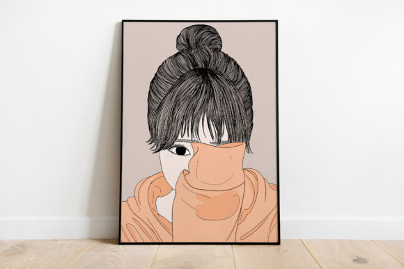 Print on Demand: Wall Art Women Have a Shy Personality Graphic Illustrations By Saydung89 - Image 1