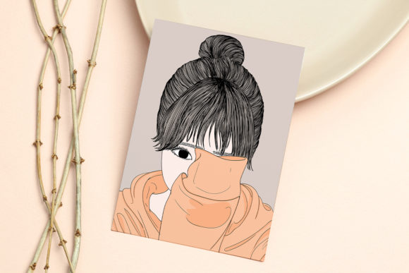 Print on Demand: Wall Art Women Have a Shy Personality Graphic Illustrations By Saydung89 - Image 11