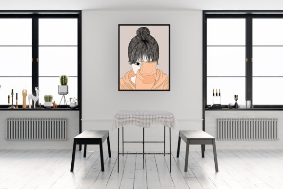 Print on Demand: Wall Art Women Have a Shy Personality Graphic Illustrations By Saydung89 - Image 13