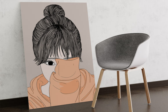 Print on Demand: Wall Art Women Have a Shy Personality Graphic Illustrations By Saydung89 - Image 3