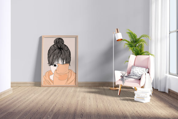 Print on Demand: Wall Art Women Have a Shy Personality Graphic Illustrations By Saydung89 - Image 5