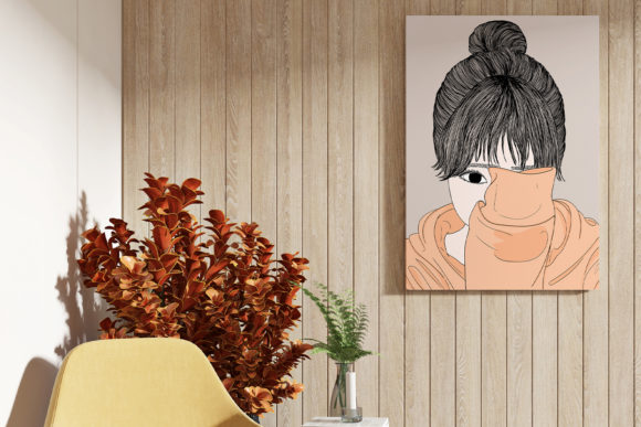 Print on Demand: Wall Art Women Have a Shy Personality Graphic Illustrations By Saydung89 - Image 6