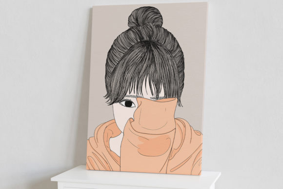 Print on Demand: Wall Art Women Have a Shy Personality Graphic Illustrations By Saydung89 - Image 7