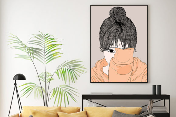 Print on Demand: Wall Art Women Have a Shy Personality Graphic Illustrations By Saydung89 - Image 8