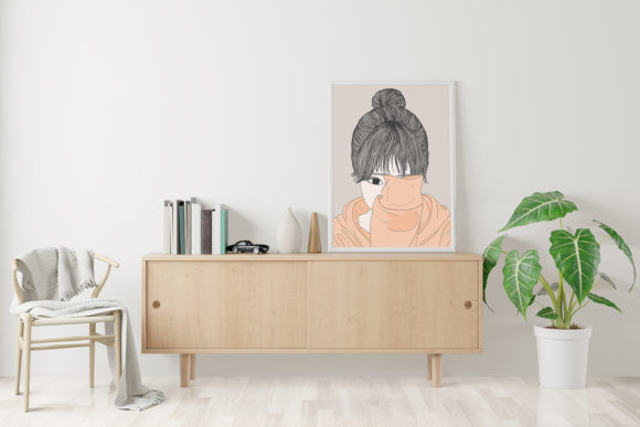 Print on Demand: Wall Art Women Have a Shy Personality Graphic Illustrations By Saydung89 - Image 9