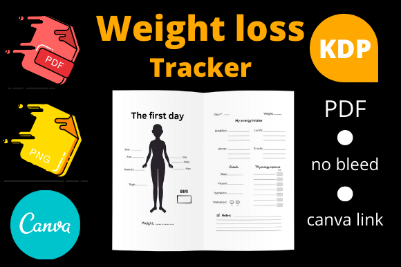 Print on Demand: Weight Loss Tracker Journal for KDP Graphic KDP Interiors By Dunkyshot