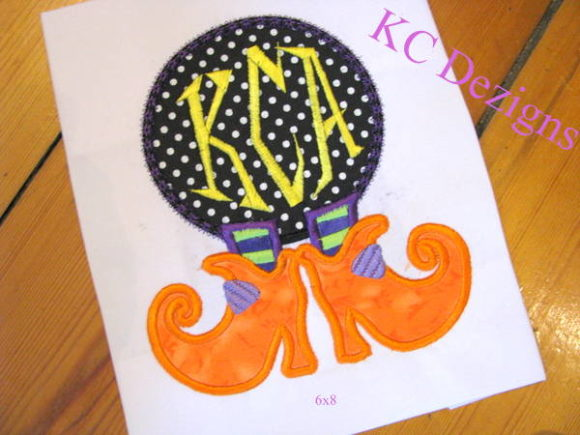 Witches Feet Monogram Halloween Embroidery Design By karen50