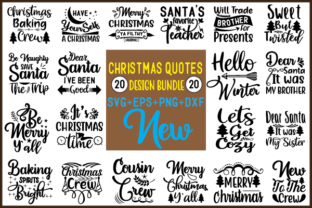 Print on Demand: Christmas Quotes Bundle Graphic Crafts By creative store.net