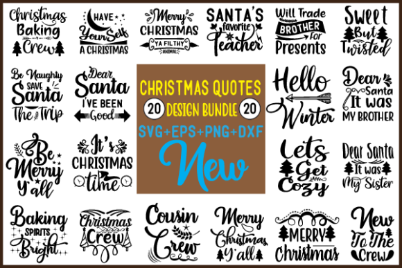 Christmas Quotes Bundle Graphic Crafts By creative store.net