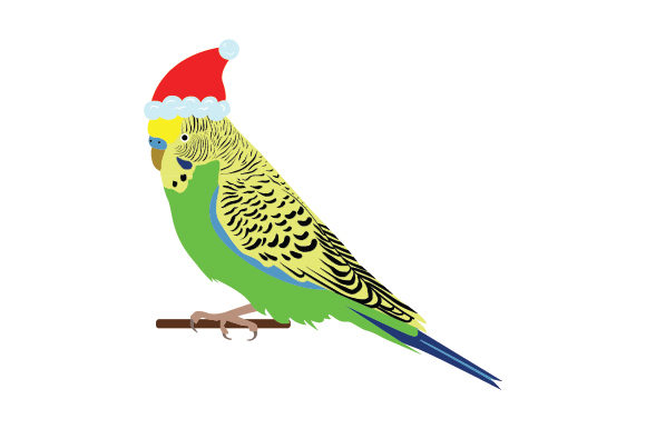 Chrismas Budgie Cut File