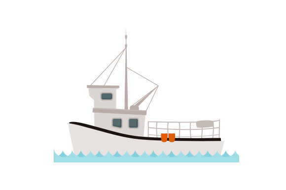 Lobster Fishing Boat Nautical Craft Cut File By Creative Fabrica Crafts
