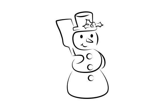Snowman Christmas Craft Cut File By Creative Fabrica Crafts