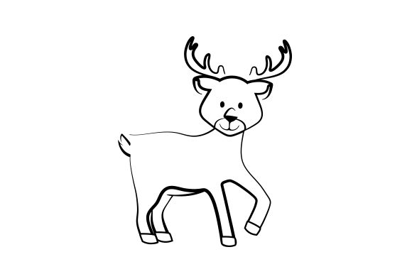 Reindeer Christmas Craft Cut File By Creative Fabrica Crafts
