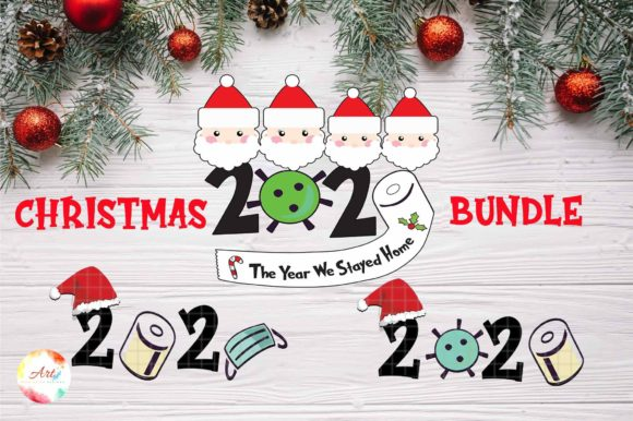 Print on Demand: 2020 Christmas Ornament Bundle Graphic Crafts By Creative Crafts