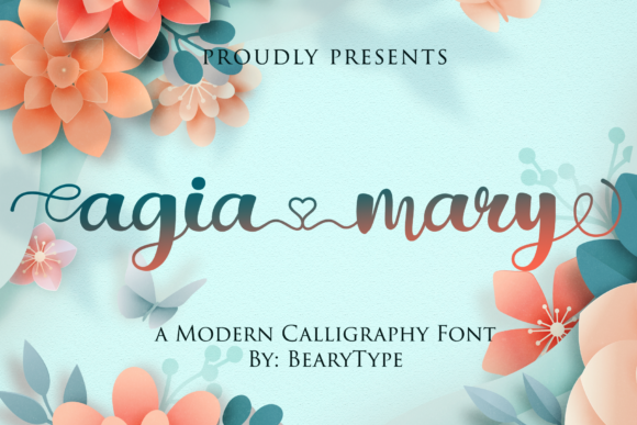 Print on Demand: Agia Mary Script & Handwritten Font By LetterBeary