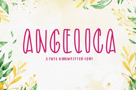 Print on Demand: Angelica Display Font By KateType