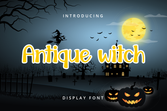 Print on Demand: Antique Witch Display Font By Planetz studio