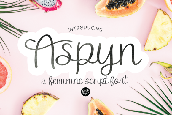 Print on Demand: Aspyn Script & Handwritten Font By dixietypeco