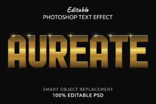 Print on Demand: Aureate Photoshop Editable Text Effect Graphic Layer Styles By IYIKON