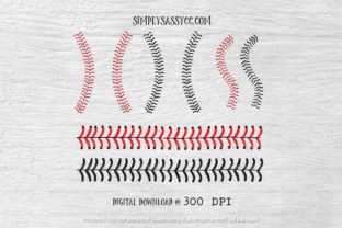 Print on Demand: Baseball Stitches Graphic Illustrations By Simply Sassy CC