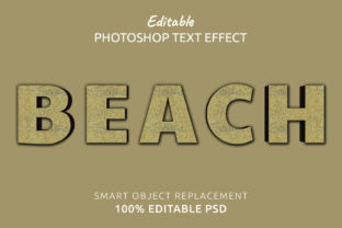 Print on Demand: Beach Photoshop Editable Text Effect Graphic Layer Styles By IYIKON