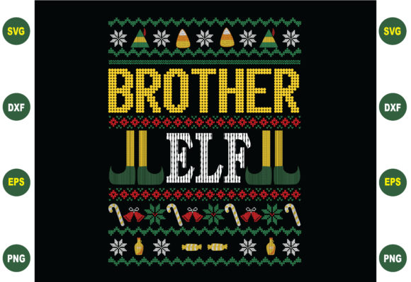 Print on Demand: Brother Elf Christmas Graphic Crafts By BDB_Graphics
