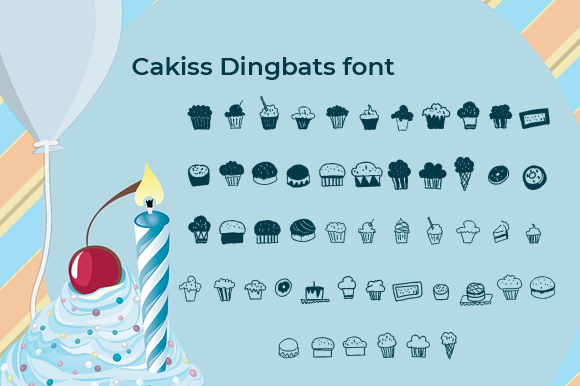 Print on Demand: Cakiss Dingbats Font By Yafont