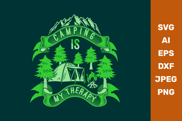 Camping is My Therapy Graphic Crafts By manglayang.studio