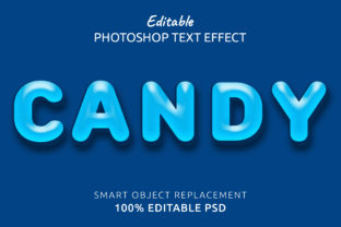 Print on Demand: Candy Photoshop Editable Text Effect Grafik Layer-Stile von IYIKON