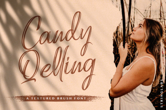 Print on Demand: Candy Qelling Script & Handwritten Font By StringLabs