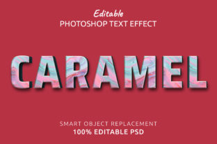 Print on Demand: Caramel Photoshop Editable Text Effect Graphic Layer Styles By IYIKON