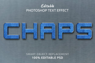 Print on Demand: Chaps Photoshop Editable Text Effect Graphic Layer Styles By IYIKON